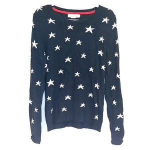 Sweaters - Navy Blue Sweater With White Stars
